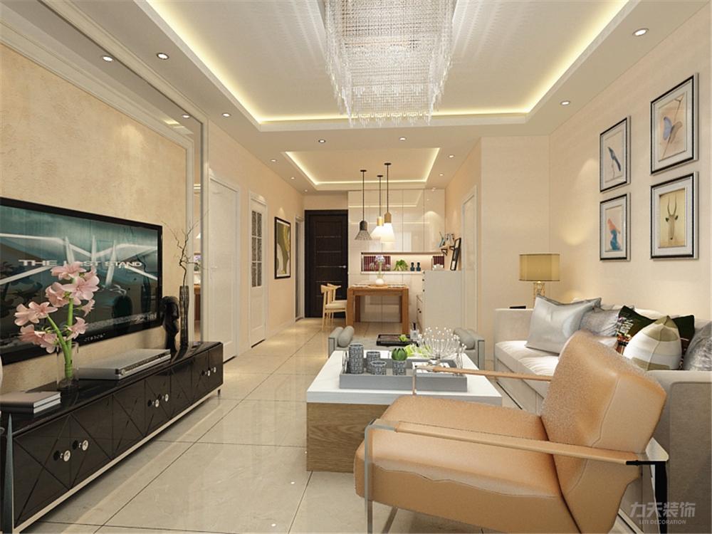 客厅图片来自阳光放扉er在力天装饰-天房天拖98㎡的分享