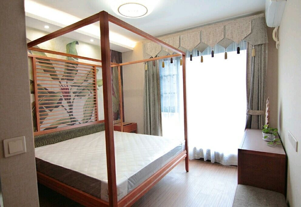 琴台华府 140平 东南亚风格 四居室 嘉年华装饰 卧室图片来自武汉嘉年华装饰在中海琴台华府的分享