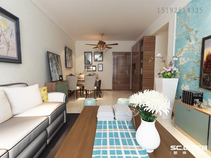 二居 美式 实创 绿地 客厅图片来自快乐彩在绿地欢乐滨海城88平两居室的分享