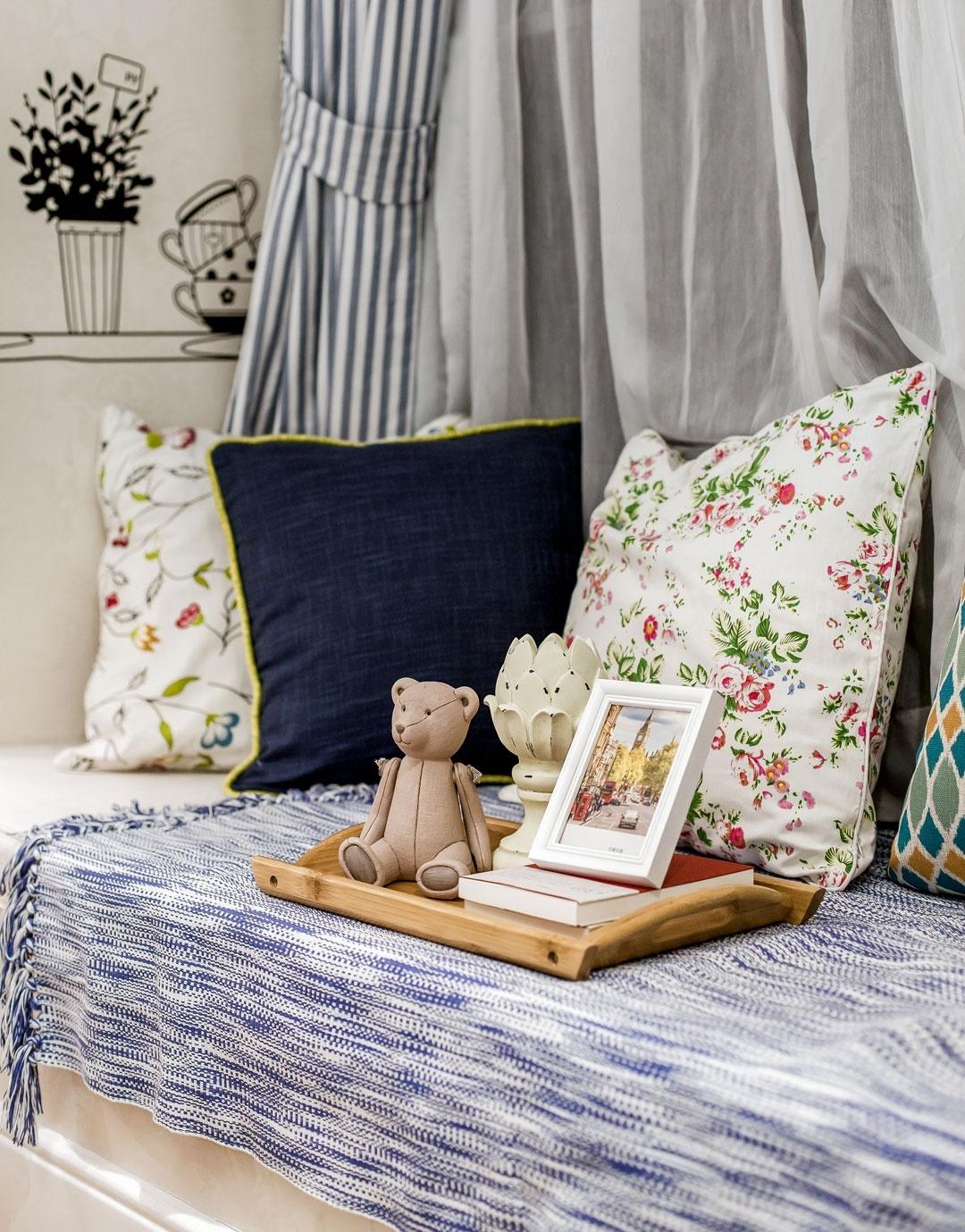 田园 二居 卧室图片来自今朝装饰张智慧在安慧里90平田园风格的分享