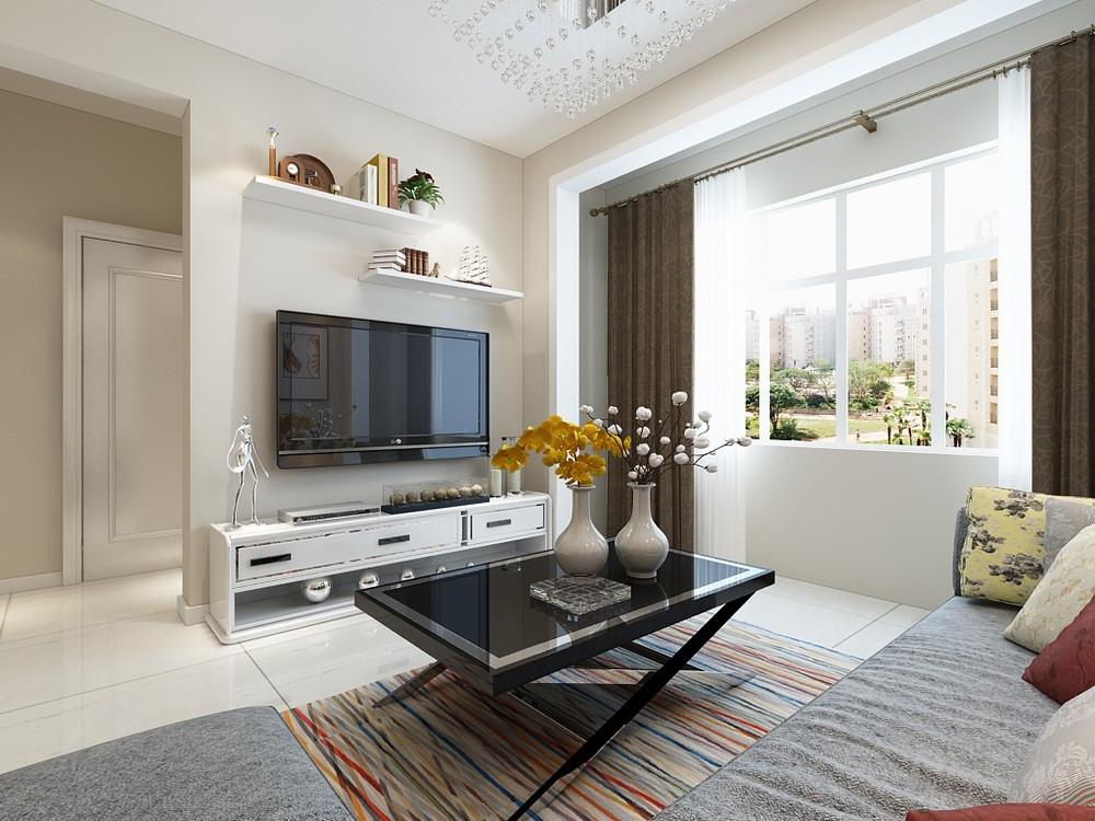客厅图片来自阳光力天装饰在现代简约   瑞景时代  81㎡的分享