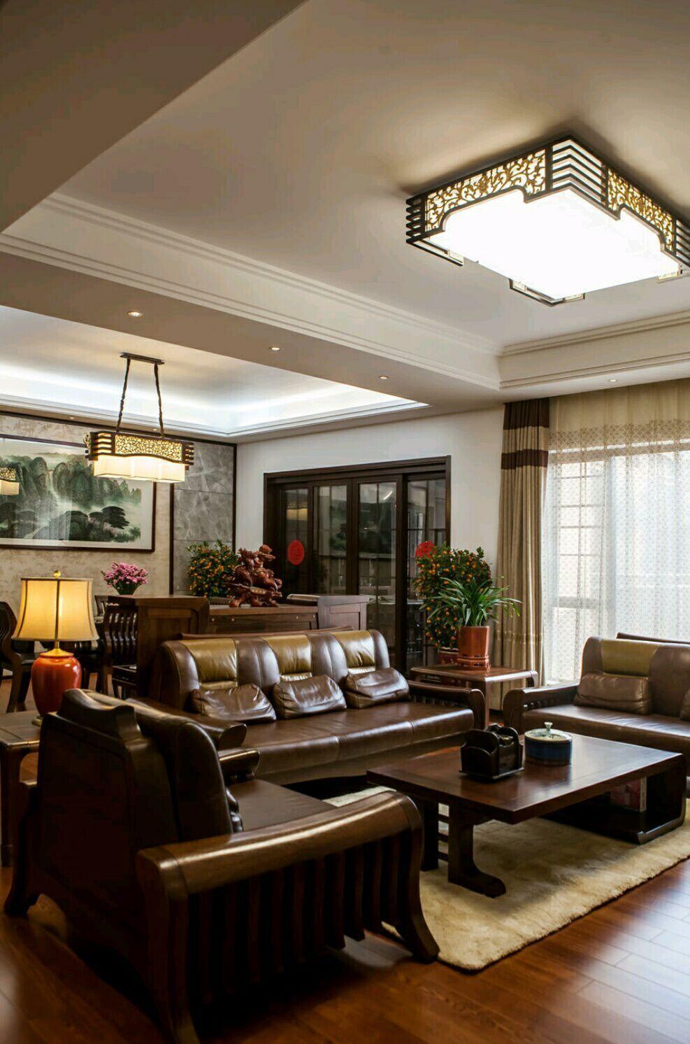 南国明珠 四居室 中式 165平 嘉年华 客厅图片来自武汉嘉年华装饰在南国明珠的分享