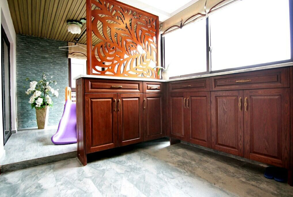 琴台华府 140平 东南亚风格 四居室 嘉年华装饰 玄关图片来自武汉嘉年华装饰在中海琴台华府的分享