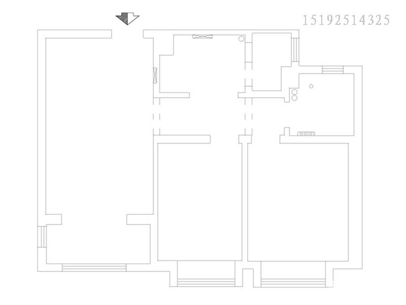 二居 美式 实创 绿地 户型图图片来自快乐彩在绿地欢乐滨海城88平两居室的分享