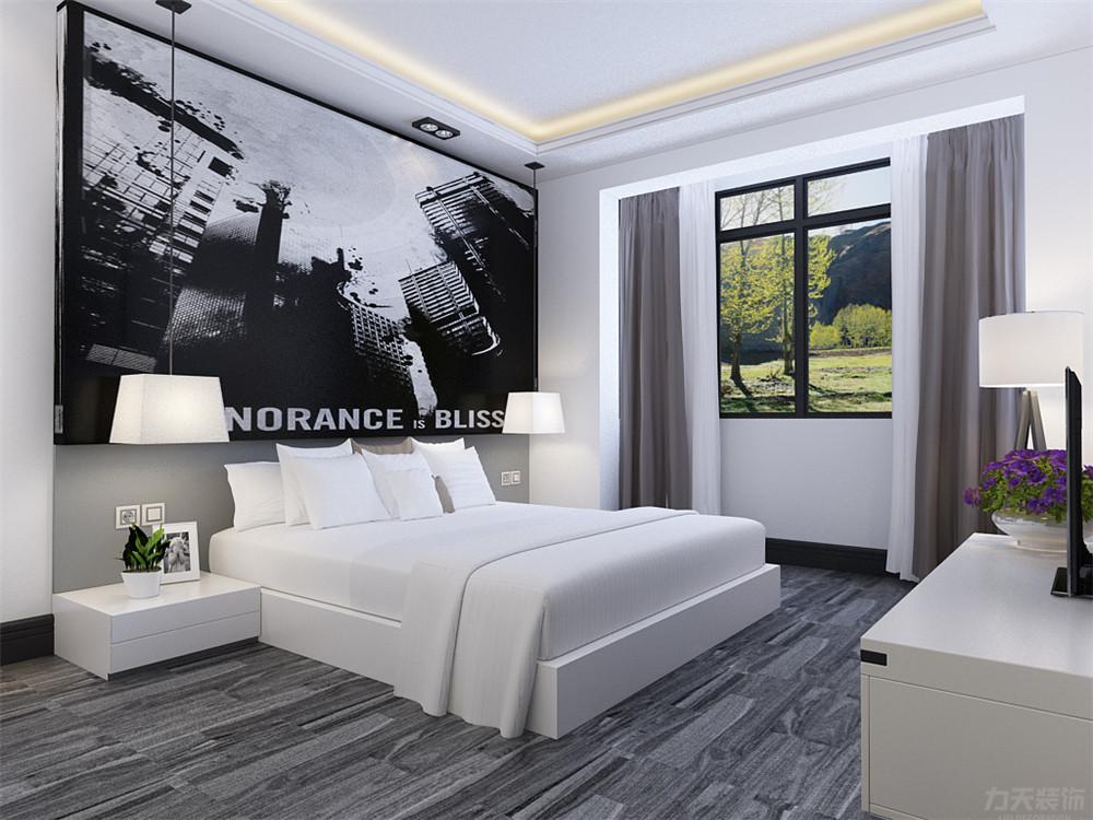 卧室图片来自阳光放扉er在力天装饰-奥莱城94㎡现代的分享