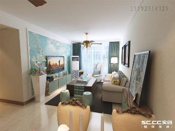 绿地欢乐滨海城88平两居室