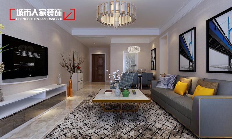 简约 府东公馆 家装设计 样板间征集 装修公司 最好的家装 客厅图片来自太原城市人家装饰在府东公馆三期120平米设计现代的分享