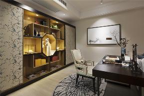 三居 白领 旧房改造 收纳 80后 小资 舒适 温馨 高富帅 书房图片来自fy1831303388在彩叠园新中式的分享