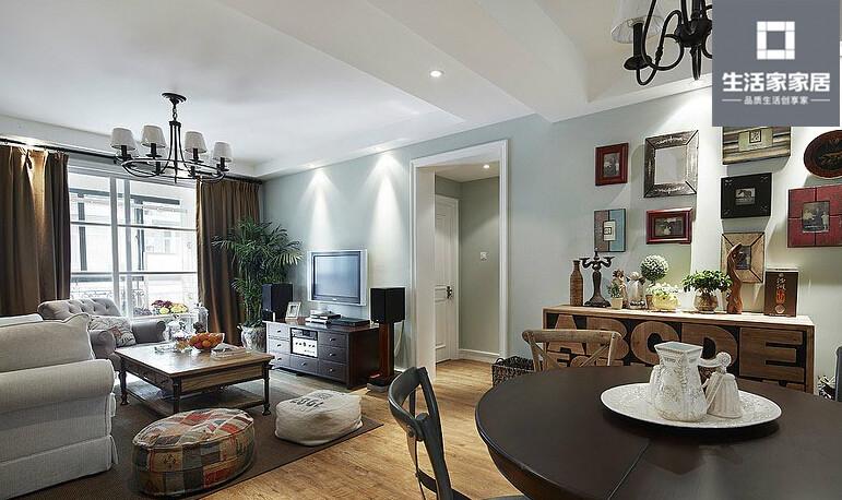 现代美式 品质 三口之家 客厅图片来自武汉生活家在泛海国际130平三房两厅现代美式的分享