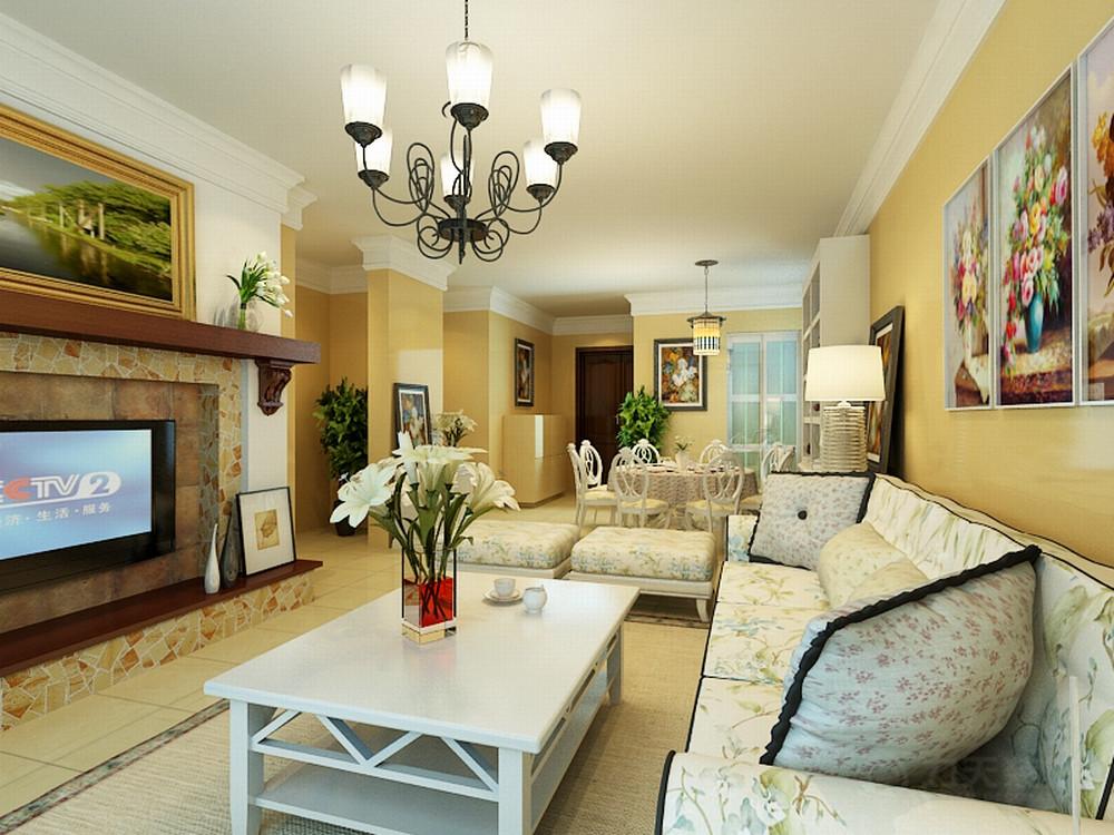 客厅图片来自阳光力天装饰在田园风格 宝利海棠湾  97㎡的分享