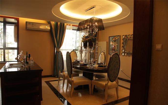 简约 欧式 新古典 三居 收纳 餐厅图片来自成都V2装饰在香草慕斯,岁月流连的分享