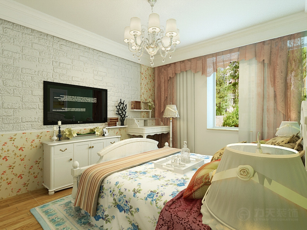 卧室图片来自阳光力天装饰在田园风格 宝利海棠湾  97㎡的分享