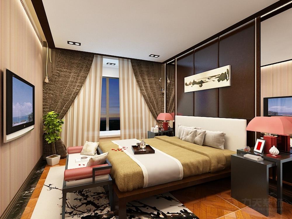 卧室图片来自阳光力天装饰在新中式风格  大悦城  90㎡的分享