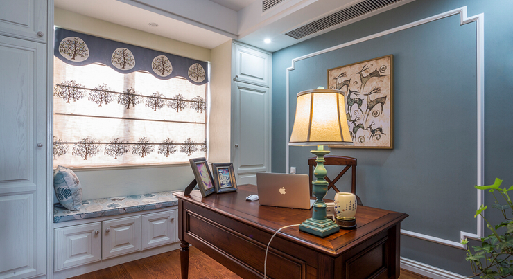别墅 书房图片来自西安紫苹果装饰工程有限公司在曲江新都的分享