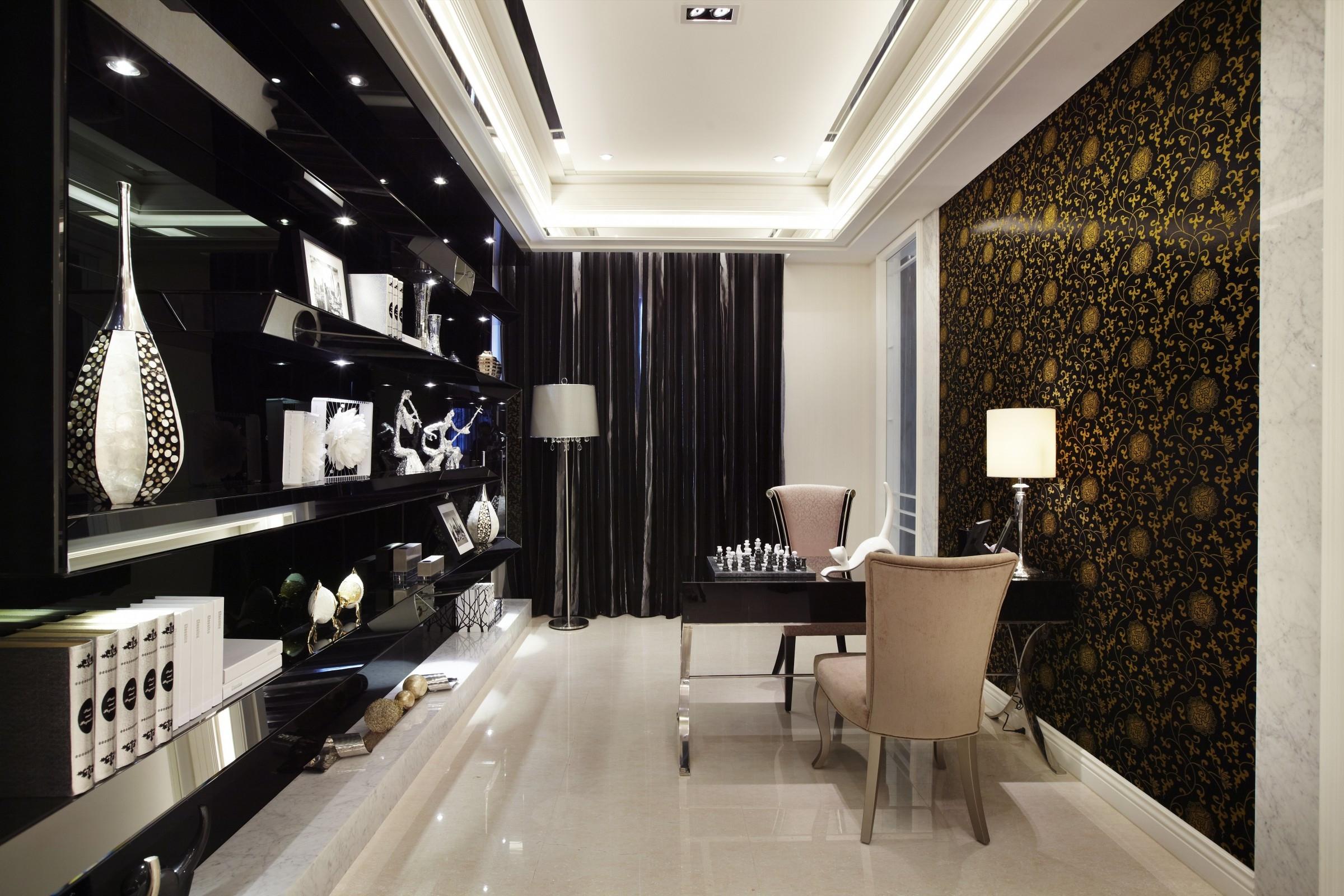混搭 别墅 白领 收纳 旧房改造 80后 小资 书房图片来自北京紫禁尚品国际装饰kangshuai在鲁能泰山7号别墅的分享