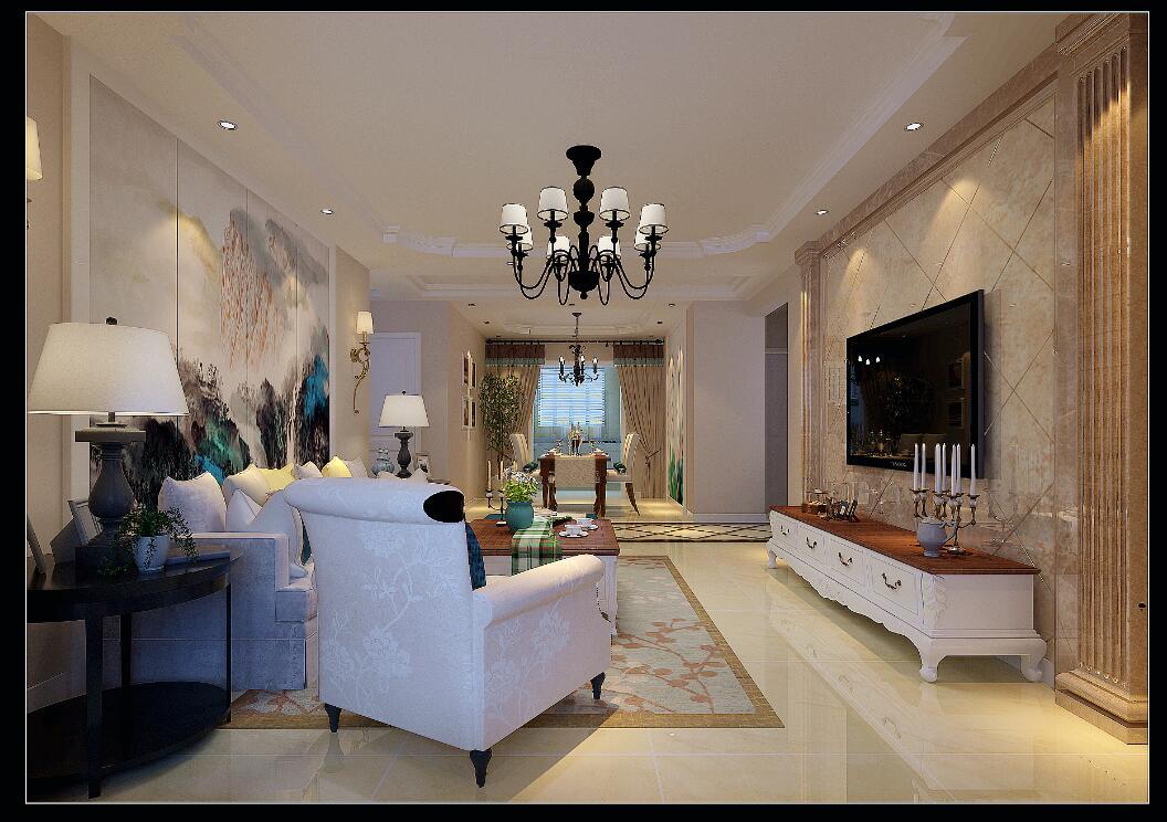 简约 三居图片来自山西今朝装饰在富力华庭140平简欧风格装修的分享