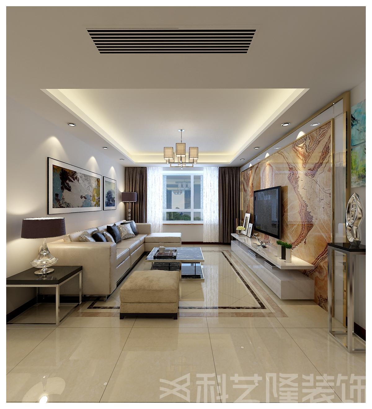 客厅图片来自天津科艺隆装饰在融创中心的分享
