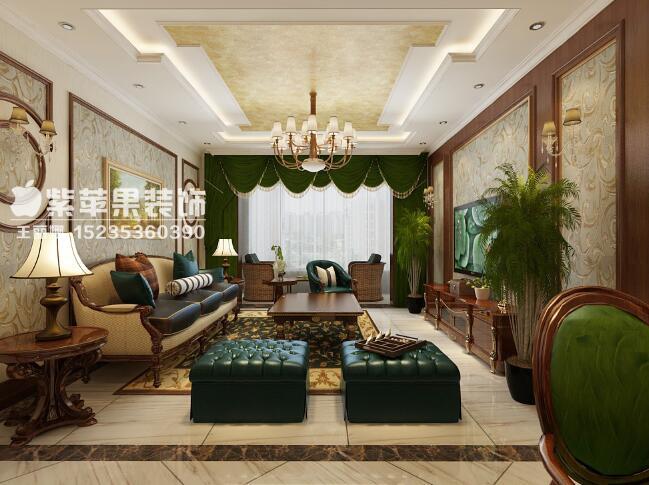 客厅图片来自山西紫苹果装饰公司在府东公馆的分享