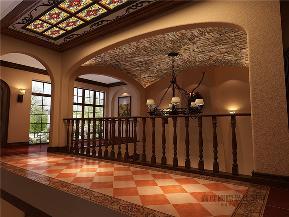托斯卡纳 美式 别墅 收纳 别墅装修 楼梯图片来自沙漠雪雨在远洋傲北400平米浪漫情怀的分享