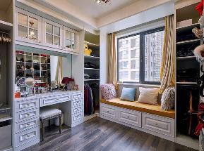 美式 白领 旧房改造 80后 小资 衣帽间图片来自北京轻舟幸福亿家装饰晶晶在130平美式小资生活的分享