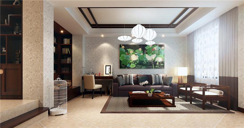 别墅 新中式 客厅图片来自鱼在轻舟在中式现代相搭,演绎出新东方主义的分享