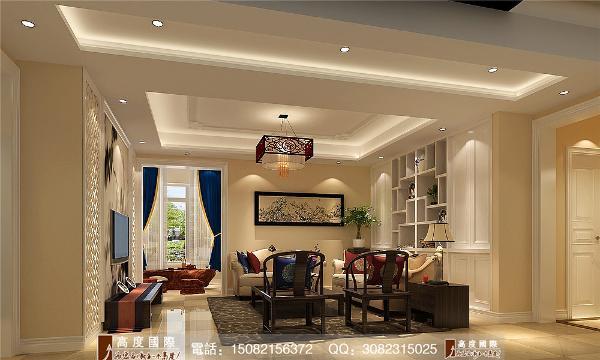 保利锦湖林语客厅细节效果图---成都高度国际装饰设计