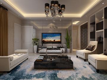 时尚现代三居室装修--142平米