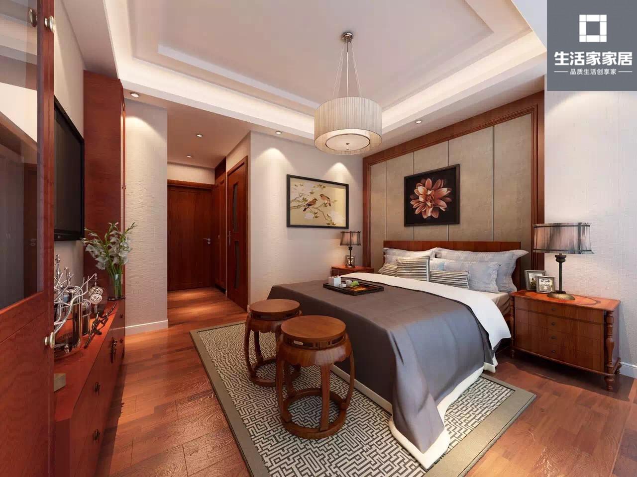 中式 典雅 收纳 卧室图片来自武汉生活家在卧龙丽景湾三室两厅110平中式的分享