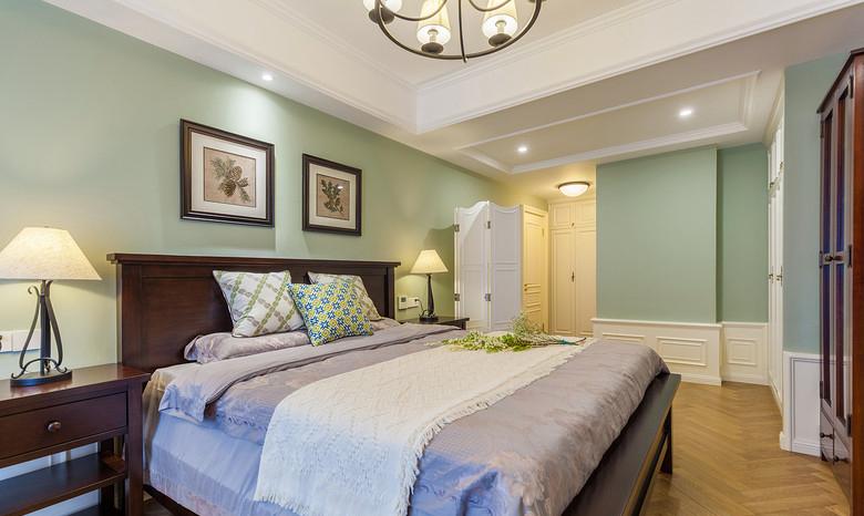 卧室图片来自家装大管家在艺术实用 178平美式优雅大气4居的分享
