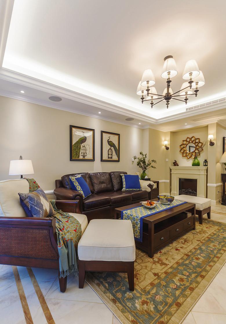客厅图片来自家装大管家在艺术实用 178平美式优雅大气4居的分享