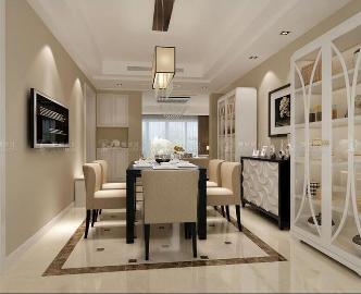 新江湾城122平公寓装修简欧格