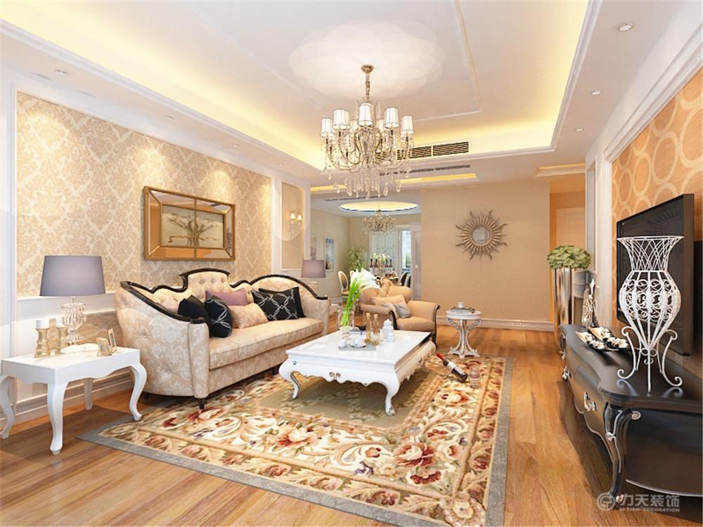 客厅图片来自阳光力天装饰在欧式   金地紫云轩  110平米的分享