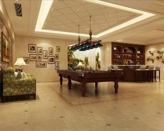 华贸东滩花园别墅美式风格设计