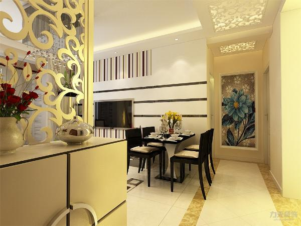 餐桌只能借助客厅部分的空间。