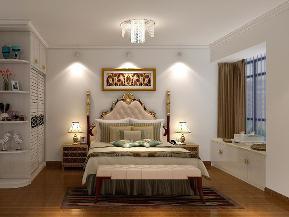 欧式 四居 浪漫 温馨 暖色调 卧室图片来自tjsczs88在浪漫温馨,简欧美感的分享