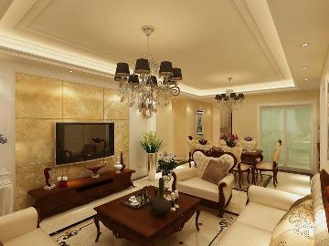 绿地卢浮宫馆125平米-简欧风格