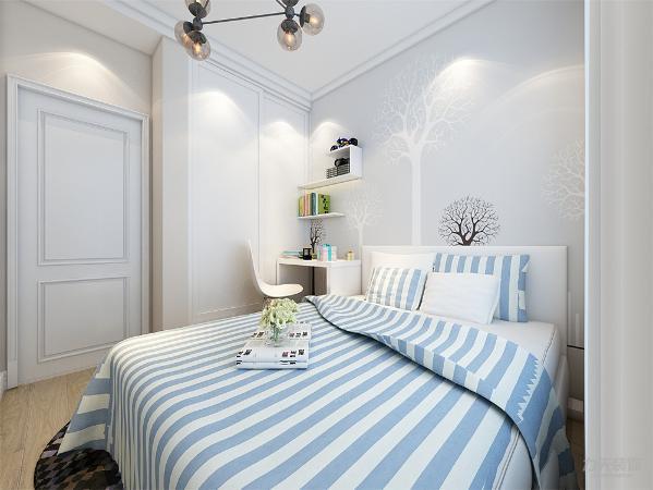 主卧室和客厅一样,石膏线圈边处理。床头背景墙挂画装饰。此风格是您最佳的不二之选。