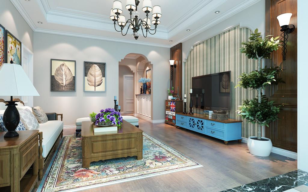 客厅图片来自用户2652703143在城开绿园155平美式风格效果图的分享