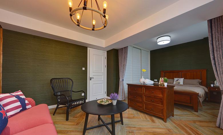 卧室图片来自家装大管家在拒绝平庸 168平美式休闲混搭复式的分享