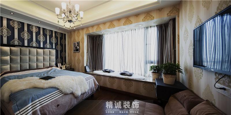 三居 别墅 后现代风格 新房 卧室图片来自北京精诚兴业装饰公司在上谷水郡的178平的三居室的分享