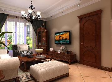 三居室美式风格装修案例--天鹅堡
