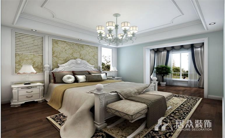 欧式 田园 卧室图片来自居众-姚工在美的城别墅的分享