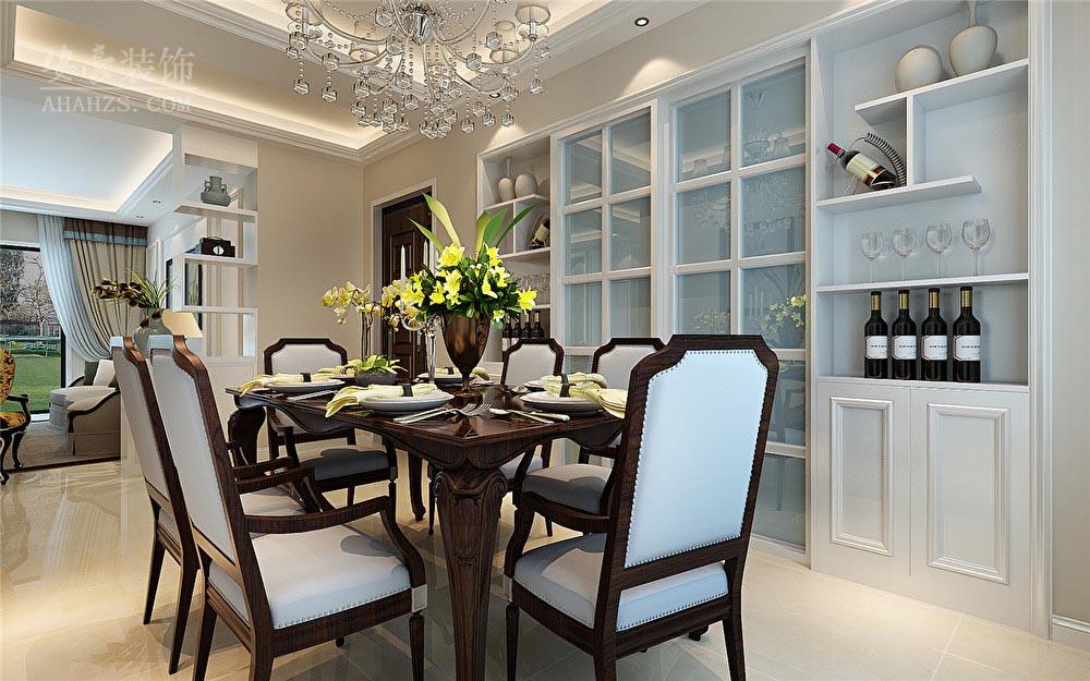 美式 餐厅图片来自安豪装饰在蓝鼎新河府的分享