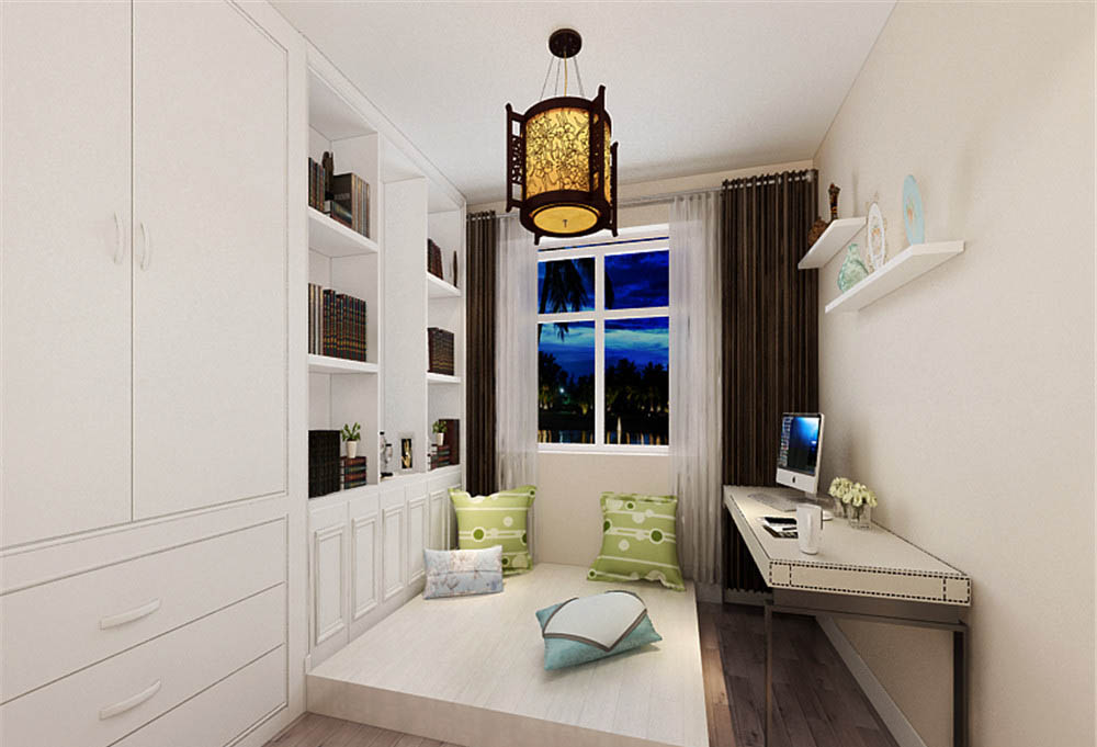 新中式风格 梵客家装 装修风格 天津装修 新房装修 卧室图片来自天津梵客家装实景体验馆在招商依云郡-125平新中式风格设计的分享