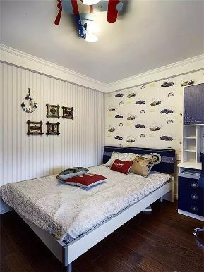 美式 简美 三居 白领 收纳 小资 儿童房图片来自沙漠雪雨在110平米美式小三居精致生活的分享