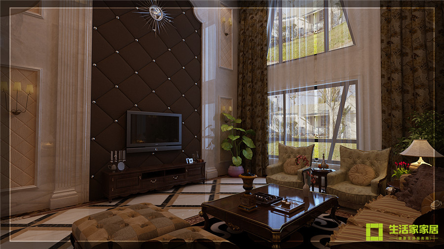 别墅 白领 80后 小资 美式乡村 生活家家居 客厅图片来自天津生活家健康整体家装在南湖壹号的分享
