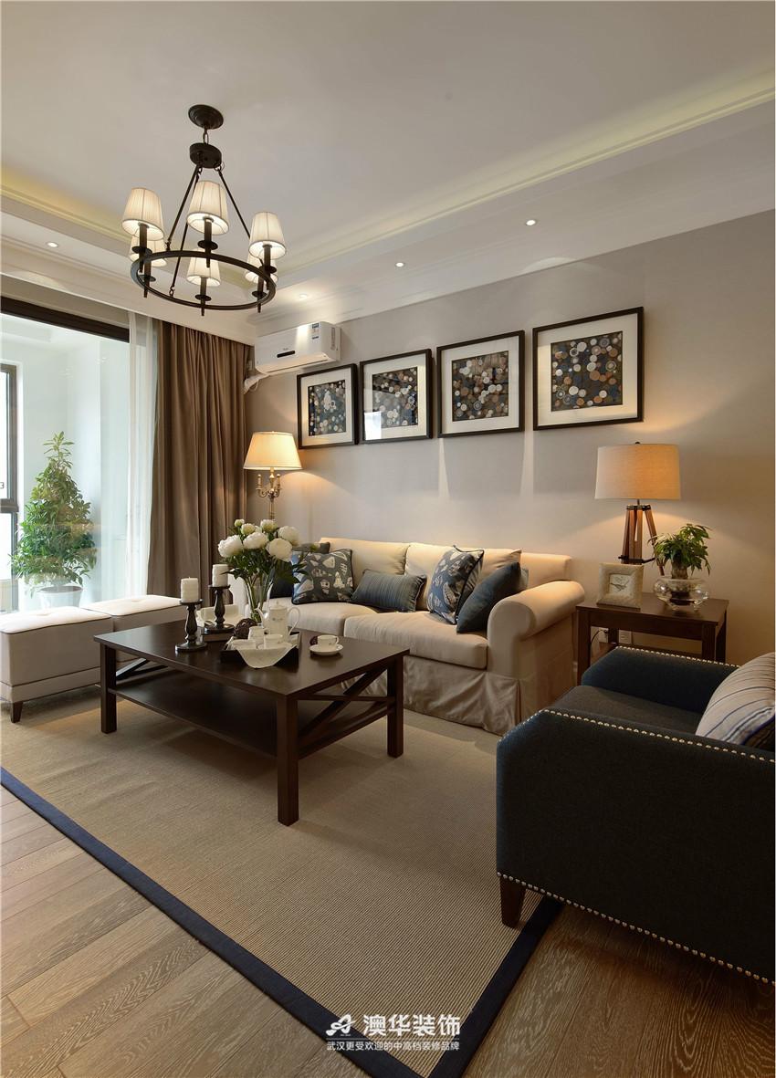 客厅图片来自澳华装饰有限公司在葛洲坝城市花园 · 简约高雅格调的分享