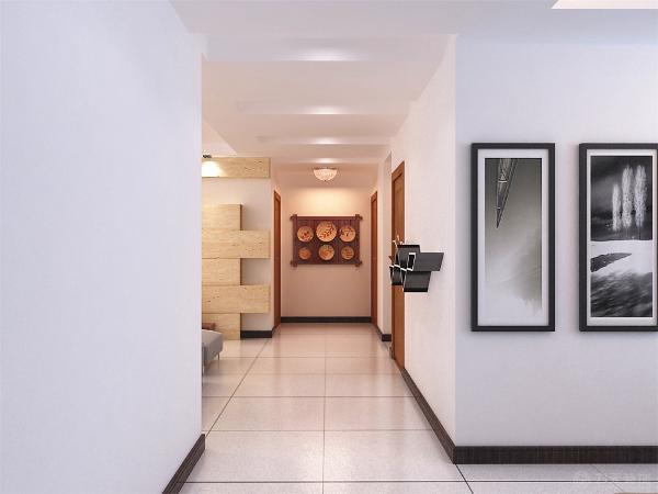 现代设计师赖特提倡室内设计与建筑设计协调一致,不仅满足现代生活需求,而利用不规则墙面形成壁面家具。同时这一墙面也起到没话居室的作用。