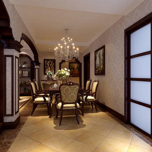 欧式 古典 三居 大平层 餐厅图片来自居然元洲装饰小杨在韵味180平欧式古典的分享