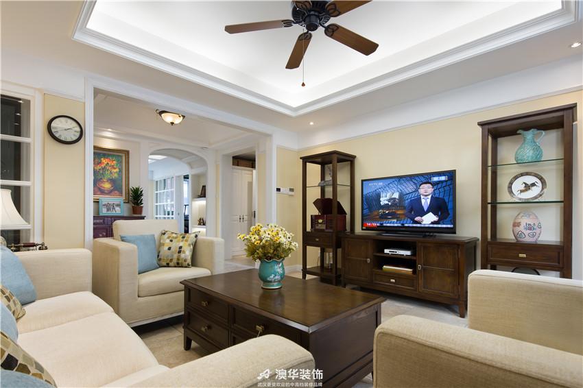 客厅图片来自澳华装饰有限公司在佳兆业金域天下 · 捕捉田园之美的分享